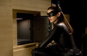 """This undated film image released by Warner Bros. Pictures shows Anne Hathaway as Catwoman in a scene from the action thriller """"The Dark Knight Rises."""" (AP Photo/Warner Bros. Pictures, Ron Phillips)"""