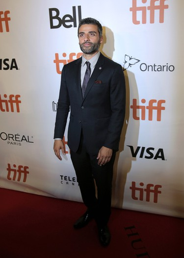 Oscar Isaac attends �The Promise�  premiere on day 4 of the Toronto International Film Festival at Roy Thomson Hall on Sunday, Sept. 11, 2016, in Toronto. (Photo by Jesse Herzog/Invision/AP)