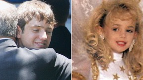 """Burke Ramsey, left, the brother of JonBenet Ramsey, right, discussed his sister's death with TV's """"Dr. Phil"""" in an interview broadcast on Monday, Sept. 12, 2016. (File Photos)"""