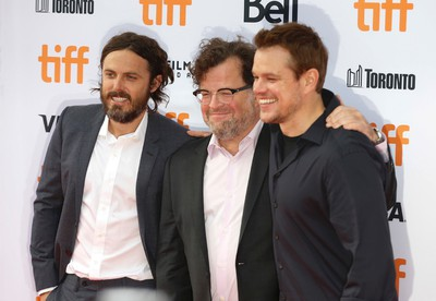 Casey Affleck (L) Kenneth Lonergan director and Matt Damon arrive at the premiere of Manchester by the Sea during the Toronto International Film Festival 2016 in Toronto on Tuesday September 13, 2016. Jack Boland/Toronto Sun/Postmedia Network