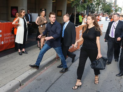 Matt Damon arrives at the premiere of Manchester by the Sea during the Toronto International Film Festival 2016 in Toronto on Tuesday September 13, 2016. Jack Boland/Toronto Sun/Postmedia Network