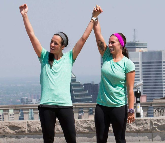 Season 4 champions of The Amazing Race Canada, Steph LeClair and Kristen McKenzie.