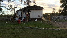 RCMP are investigating a suspicious structure fire which happened early on Sept. 10. According to an RCMP spokesperson, nobody was in the house.  RCMP submitted photo