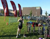 Edmonton's Fanny Tremblay competed at the Esprit Triathlon in Montreal last weekend. PHOTO SUPPLIED