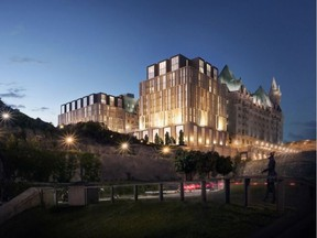 View of the proposed expansion of the Chateau Laurier.