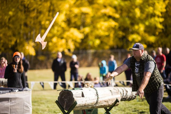 The 3rd Annual Blue Ridge Logging Days will be held from Sept. 23 to 25. The event will feature a variety of wood carvers, as well as a public axe throwing competition. (Christopher King | Whitecourt Star)