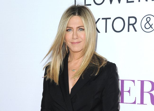 "In this April 13, 2016 file photo, Jennifer Aniston arrives at the Los Angeles premiere of ""Mother's Day."" Aniston memes of all kinds were the Internet's response to the Tuesday, Sept. 20, morning announcement that Angelina Jolie Pitt had filed for divorce from Brad Pitt. (Photo by Richard Shotwell/Invision/AP, File)"