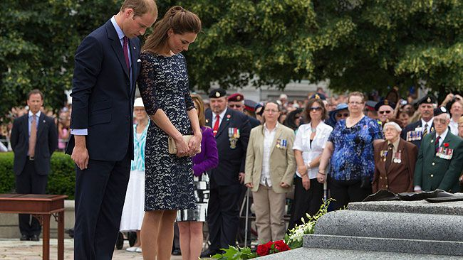 On June 30, Prince William and Kate made their first stop on Canadian ground at the National War Memorial in Ottawa where they laid wreaths at the Tomb of the Unknown Soldier. (Postmedia Network)