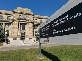 The National Research Council Canada at 100 Sussex Drive.  Errol McGihon/Postmedia