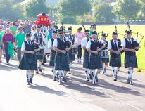 The 36th annual Kincardine Terry Fox Run saw over 100 people take part in the walk, run and roll, starting with a lap of the Davidson Centre track, led by members of the Kincardine Scottish Pipe Band. The event raised $14,500 for cancer research. (Troy Patterson/Kincardine News)