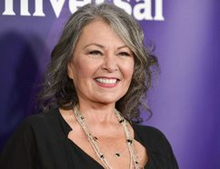 Roseanne Barr arrives at the NBC Universal Summer Press Day on Tuesday, April 8, 2014, in Pasadena, Calif. (THE CANADIAN PRESS/AP)