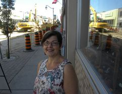 Ernst Kuglin/The Intelligencer Angela Wildish, owner of Vivacious women's clothing store in downtown Trenton, said merchants, Trenton DBIA and the city have been proactive in helping the business community make it through the multi-million dollar infrastructure project on Dundas Street West.