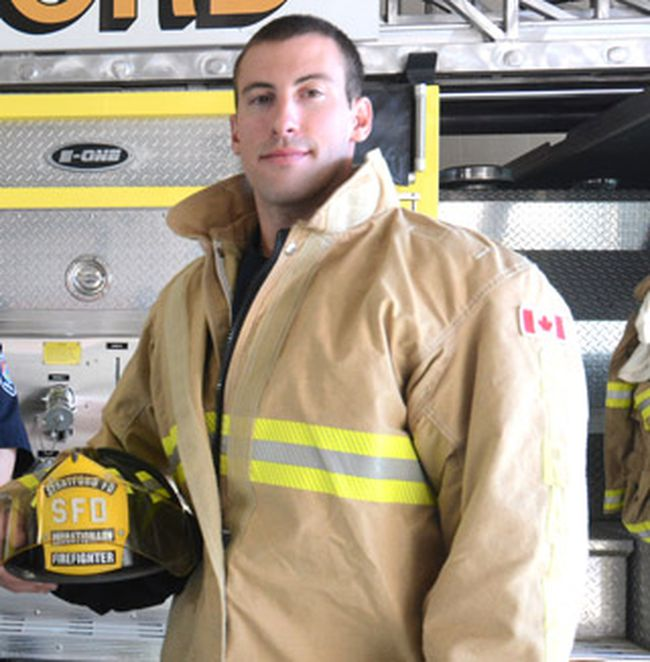 Stratford firefighter Chris Crozier is FireFit challenge rookie of the year. (SCOTT WISHART/The Beacon Herald files)