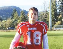 Coltyn Bousquet, who recently graduated from Portage Collegiate Institute, is enjoying his time playing junior football in Victoria, B.C.