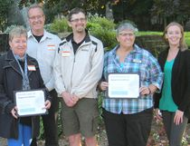 Women's House recently held its Donor and Volunteer Appreciation evening at Kincardine's Rotary Park, with food and thanks offered to guests for their ongoing support. Pictured: Donors were recognized for their contributions. L-R: Ann Bolton, Brenda Zinn (Chantry Singers), Janice Matchett (Matchett Financial Services), Steve Neeb (Lucknow Kinsmen), Adam Olivero (Grace United Church in Hanover, Janet Boyle-Jackson (Bruce Telecom), and Tiffany Love, Community and Fund Development Coordinator for Women's House. (Submitted)