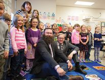 NDP Minister for Education, David Eggen, toured through École Dansereau Meadows School and Academié Saint-André Academy Sept 21. Along with Leduc-Beaumont MLA Shaye Anderson, Eggen spoke about the upcoming changes to the curriculum and about some of the issues currently facing Alberta schools.