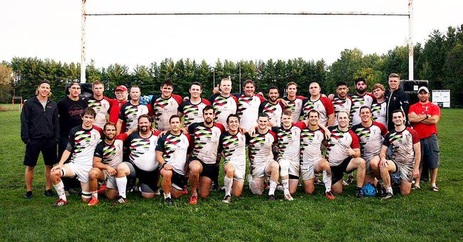 The Brantford Harlequins recently concluded the Rugby Ontario Marshall Premiership season in first place with a record of 12-2. Brantford plays its first-round playoff game on Saturday in Ajax. (Submitted Photo)