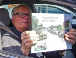 Leonard Siemens with his recently published memoir. (Alexis Stockford/Winkler Times)