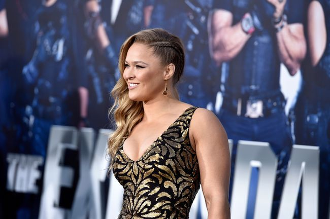"UFC fighter Ronda Rousey arrives at the Premiere Of Lionsgate Films' ""The Expendables 3"" at TCL Chinese Theatre on Aug. 11, 2014 in Hollywood, California. (Frazer Harrison/Getty Images)"