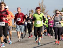 Runners head out towards city streets at last year's Gold Rush Run in Timmins. This year marks the 17th version of the Thanksgiving tradition, which will take place on Sunday, Oct. 9. Registration is still available online at www.GoldRushRun.ca. BENJAMIN AUBÉ/THE DAILY PRESS