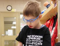 Joseph-Paul Hillis, 3, has Pitts-Hopkins syndrome, a rare genetic condition. His family is speaking out to spread awareness about the disease and to ask for donations. (Tyler Kula/Sarnia Observer)