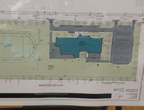The proposed site plan for Hanover's new Grade 7 to 12 school, set to open in September 2018. (Dave Flaherty/The Post)
