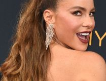 Sofia Vergara arrives for the 68th Emmy Awards on September 18, 2016 at the Microsoft Theatre in Los Angeles. / AFP PHOTO / Robyn BeckROBYN BECK/AFP/Getty Images