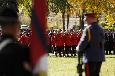 Police and peace officers are seen during Alberta's Police and Peace Officers' Memorial Day at the Alberta Legislature in Edmonton, Alberta on Sunday, September 25, 2016. Ian Kucerak / Postmedia