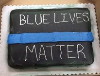 Three Walmart bakers in Georgia refused to make a cake with the words 'Blue Lives Matter' written in icing on top. The bakers deemed the cake politically incorrect and didn't feel comfortable making the cake – which was meant for a retiring police officer. (Facebook Photo)