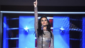 Katy Perry at the 2016 Democratic National Convention (DNC. (Dennis Van Tine/Future Image/WENN.com)