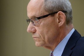 Canadian Forces ombudsman Gary Walbourne appears at a Senate veterans affairs committee in Ottawa on Wednesday, May 4, 2016. Canada's military ombudsman is taking aim at the armed forces for cutting loose ill and injured service members before they know what services and benefits the soldiers are getting from the Veterans Affairs Department. THE CANADIAN PRESS/Sean Kilpatrick