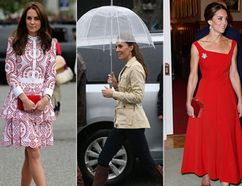 The lady in red has never looked so, well, royal. (Getty)