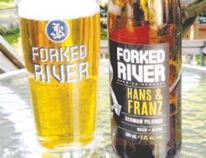Hans and Franz is the first lager for Forked River Brewing Company — paying homage to 1990s SNL's 'not girly men' Hans and Franz.