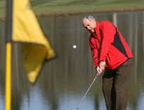 Golf coach Bill Penny, who recently announced his retirement, is offering a package to play with him at the Camrose Golf Course next summer. You can bid on it during the ATCO Edmonton Sun Christmas Charity Auction. File photo.