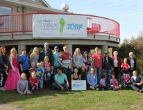 Christina Martens/Wetaskiwin Times Team Nolan was out in full force to show their support for the Juvenile Diabetes Research Foundation's youth ambassador Nolan Andreson and the Telus Walk to Cure Diabetes event at By-the-Lake Park in Wetaskiwin Sept. 25.