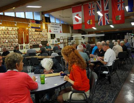 A cribbage tournament in the newly renovated Legion Clubroom was one of the activities during Legion Week. (Alexis Stockford/Morden Times)