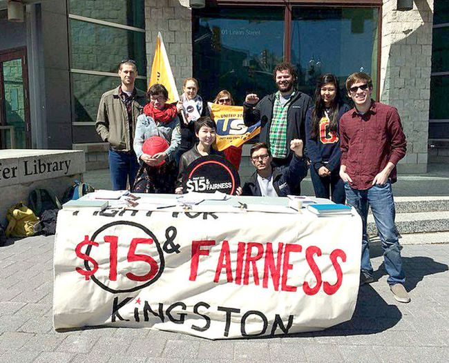 Submitted photo An undated file photo of the Kingston chapter of the Fight for $15 and Fairness who are advocating a $15 minimum wage and the right to unionize for migrant farm workers.