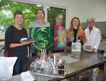 Karen Wettlaufer (left), Thomas Stewart Robertson, Holly O. (Ounapuu), Heather Vollans and Jennifer Budd are among the artists participating in the 16th annual Brant Studio Tour on Saturday and Sunday. (MICHELLE RUBY/The Expositor)