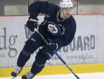 Nic Petan, on the ice during practice September 28, 2016.