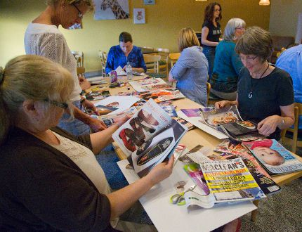 A project to clip pictures of your life goals at Circles, a community group that matches people stuck in poverty with middle-class volunteers, in London, Ont. on Tuesday September 13, 2016. Mike Hensen/The London Free Press/Postmedia Network