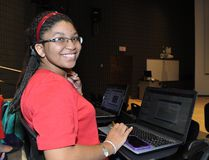 Marketing student Stephanie Rhoden is part of a group of 230 students who are using interactive online learning resources at Cambrian College. Supplied photo