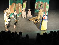 Snow White reacts unfavorably to Robin Hood and his merry men coming to crash her play, Rogue theatre's Snow White and the Seven Dwarfs during a 2010 performance of the show. Corrie DiManno/ Crag & Canyon Archives