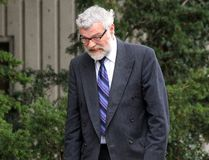 George Wayne Jarvis, who has pleaded guilty to manslaughter in the shooting death of his wife in the late 1980s, is pictured here on Thursday, Sept. 29, 2016, entering the courthouse in Chatham, Ont., for a sentencing hearing. (Vicki Gough/Chatham Daily News)