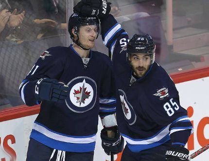Kyle Connor and Mathieu Perreault