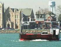 The Sombra ferry crosses the St. Clair River from Marine City, Michigan where a community group is planning a weekend of Guinness World Record attempts Oct. 15 and 16, including one that would see a mile-long popcorn string stretch across the river to Sombra. File photo/Postmedia Network