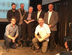 Movie industry leaders gathered recently for a film training symposium hosted by the Northern Ontario Film Studio and the International Alliance of the Theatrical Stage Employees. (Photo supplied)