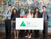 Local participants from last year's Junior Achievement Company Program. Submitted photo for SARNIA THIS WEEK