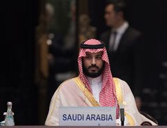 Saudi Arabia Deputy Crown Prince Mohammed bin Salman attends the G20 opening ceremony at the Hangzhou International Expo Center on September 4, 2016 in Hangzhou, China. World leaders are gathering for the 11th G20 Summit from September 4-5. (Photo by Nicolas Asfouri - Pool/Getty Images)