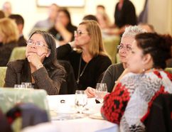 Attendees listen to panelists at the launch of this year's Vital Signs report in Sudbury. Gino Donato/Sudbury Star