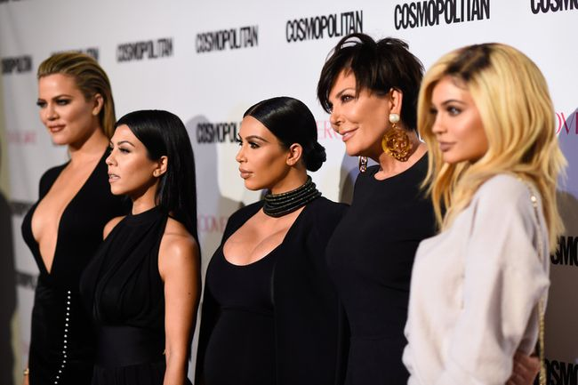 TV personalities Khloe Kardashian, Kourtney Kardashian, Kim Kardashian, Kris Jenner and Kylie Jenner attend Cosmopolitan's 50th Birthday Celebration at Ysabel on October 12, 2015 in West Hollywood, California. (Photo by Frazer Harrison/Getty Images for Cosmopolitan)